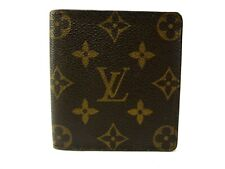Authentic LOUIS VUITTON Monogram Wallet Bi-fold Men's Browns