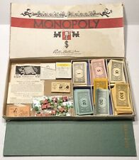 Vintage WWII Era Monopoly Game No 9 US Patent 2,026,082-No Tokens