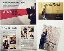 KEN LOACH FILM POSTCARDS & FLYER - I DANIEL BLAKE & VERSUS