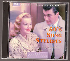 50'S SONG STYLSTS - 25 TRACK CD - NAT KING COLE JOHNNY RAY, LOUIS ARMSTRONG -VGC