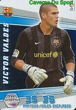 402 VICTOR VALDES ESPANA FC.BARCELONA PORTEROS TARJETA CARD MGK LIGA 2008 PANINI
