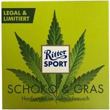 RITTER SPORT SCHOKO + GRAS mit gerösteten Hanfsamen 100g NEU & OVP