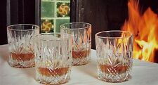 Galway Irish Crystal Abbey DOF Whiskey Tumblers Set of 4 Glasses NEW RRP £39.99