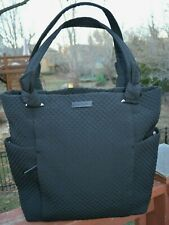 VERA BRADLEY '' HADLEY ''  Black Quilted Micro Fiber Tote / Purse Handbag NWT