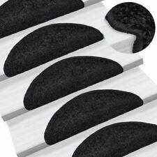 Vidaxl Tapis D'escalier 15 pcs Noir 56 x 20 cm Décorations