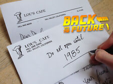 BACK TO THE FUTURE LETTER LOU'S CAFE Retour Vers Futur LETTRE Marty Mc Fly Doc