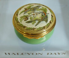 "Halcyon Days Firecrests Enamel Box - <1 7/8""(>4.5cms)"