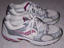 SAUCONY Grid Storm Silver Gray White Mesh Sneakers Womens Athletic Shoes Sz 7.5M