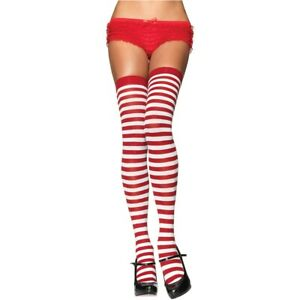 Striped Thigh Highs Adult Womens Nylon Stockings