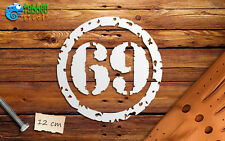 Numero adesivo Bobber Cafe Racer moto custom pegatinas autocollant stickers