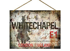 WHITECHAPEL JACK THE RIPPER VINTAGE STYLE METAL SIGN:MAN CAVE:HOME DECOR:GIFT