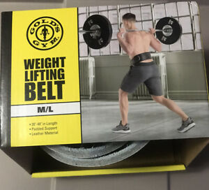"""GOLD's GYM Leather Belt Strength Weight Power Lifting M/L 30""""+ Loc#EB37"""
