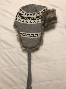 H&M TRAPPER HAT NEW CLASSIC SEXY UNISEX WINTER HAT BEANIE GRAY GIFT