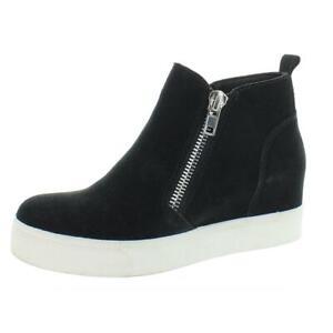 Steve Madden Womens Wedgie Black Wedge Heels Shoes 6.5 Medium (B,M) BHFO 9927