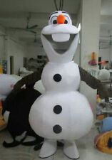 New Olaf Snowman of Frozen Cartoon Fancy Dress Mascot Costume Adult Suit Express