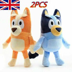 2PCS Bluey and Bingo Dog Friends Plush Toy 28cm Stuffed Doll Kids Birthday Gift