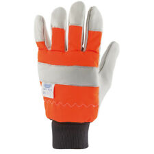Draper Expert Quality Protective Leather / Cotton Chainsaw Gloves Size 9 - 18014
