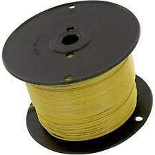 Belden Hook Up Wire 18 AWG 65 x 36 TC Yellow Rubber Ins +90C 5000V 500' New