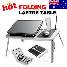 Just for Portable Laptop Desk Stand Foldable Table Bed TV Tray USB Cooling Fans