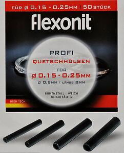 Flexonit Quetschhülsen Klemmhülsen 50 Stk. 0,6 mm, 0,8 mm, 1,0 mm