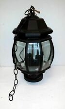 Westar Lighting Outdoor Hanging Upscale 3-Light Lantern with Black Metal Finish