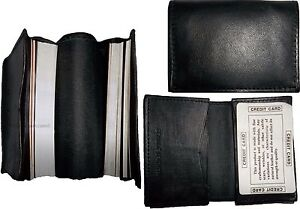 Lot of 3 New leather business card case, 100 plus card case, Black card case BN