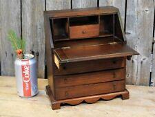 19th C Antique Miniature Wood Salesman Sample Secretary Desk AAFA