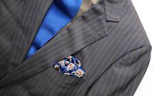 ERMENEGILDO ZEGNA Trofeo Mens Suit Jacket Blazer Pant Pinstripe Brown Wool 42/34