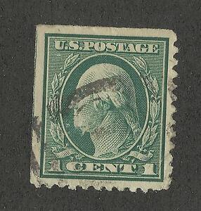 US 498 @ (1917) 1c Used, VF/XF Washington
