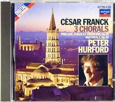 ARGO FULL SILVER Franck HURFORD Organ Chorals (CD, 1985, W. GERMANY) 411 710-2