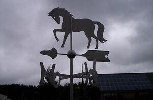 Wetterfahne, Edelstahl, Pferd, orig. Wetterfahnen Knirsch, Geschenk, Wetterhahn