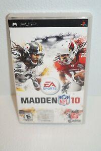 Madden NFL 10 (Sony PSP, 2009) CIB w/ Manual