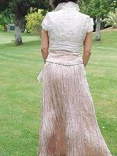 Falda con top y torera de Javier Simorra, rosa, talla 40