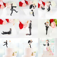 Romantic Groom Bride Marry Resin Figurine Wedding Cake Topper Decor Supplies