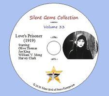 "DVD ""Love's Prisoner"" (1919) starring Olive Thomas with Joe King, Classic Drama"