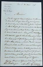 Chirurgien de l'Empereur Hippolyte LARREY autographe
