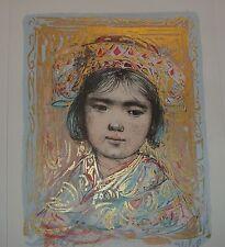 Mika  Artists Proof Lithograph  Edna Hibel