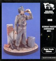 Verlinden 120mm 1:16 German Panzer Commander WWII Resin Figure Kit #966