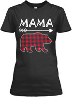 Womens Mama Bear Plaid Family - Gildan Women's Tee T-Shirt
