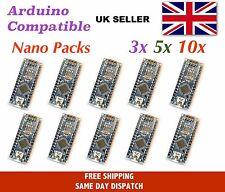 Arduino Nano v3 compatible - multi-pack, ATMEGA328, CH340 USB, UK Stock