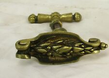Antique Brass Door Knob handle Architectural Ornate Reclaimed Salvaged