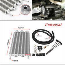6 Row Radiator Remote Aluminum Transmission Oil Cooler + Hose / Mounting Silver
