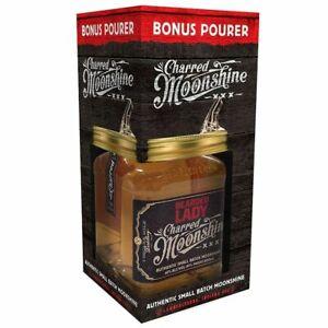 Bearded Lady Charred Moonshine Gift Pack, 500ml 40% Alc.