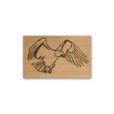 Eagle mounted rubber stamp, bird of prey, patriotic symbol CMS #2