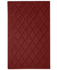 "Avanti Bath 100% Cotton 21"" x 34"" Splendor Bath Rug - Brick Red"