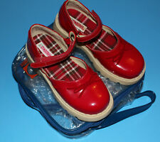 11 New Nib Gymboree Mad About Plaid Vintage Red Patent Mary Jane Shoes Girls