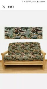 TWIN FUTON MATTRESS TAPESTRY COVER - TRAVEL PATTERN - EASY FIT - YS253