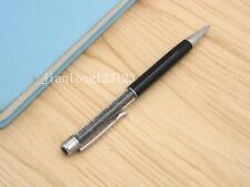 BLACK Colorful crystal pen silver Trim aluminum fashion Ballpoint Pen