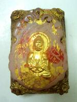 Phra Somdej Pagoda Wat Phra Kaew Talisman Buddhist Antique Thai Buddha Amulet