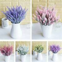 Lavender Artificial Plant Flowers Silk Fake Flower Arrangement Home Office Decor
